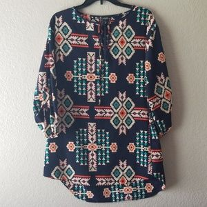 Signature Studio Tribal Print Tunic